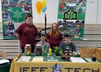Standing, from left to right, are Cole Norris and Jessica McManigle. Sitting are Clayton Joiner and Zach Emery. (Provided photo)
