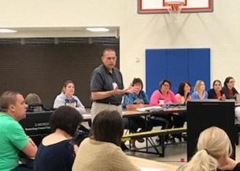 John Bacher is shown teaching the Glendale staff. (Provided photo)