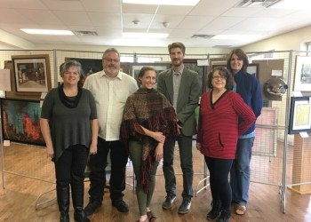Pictured, from left, are SRACC representatives with the show judges, Loretta Wagner, Gary Holt, Catherine Danae (judge), Ryan Haggerty (judge), Dottie Spera and Jacqueline Zitzelberger. (Provided photo)