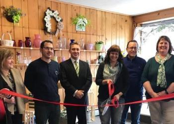 Shown are: Jennifer Suhoney, Burleigh Real Estate; Debra Dodson, Penn Highlands, Clearfield; David Mayersky, Mayersky Landscaping; Ryan P. Sayers, Law Office of Ryan P. Sayers;  Lisa Shirey, owner of The Flower Folks; Kenn Starr, Starr Hill Vineyard & Winery; Dawn Shaw, Helmbold & Stewart Insurance; and Kim McCullough, Greater Clearfield Chamber of Commerce. (Provided photo)