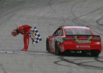 One day late, but it didn't matter.  A familiar man won at a familiar track.