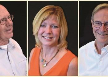 From left, 2018 Alumni Award Recipients Ross Kester, Christine Beretsel, and Robert Johnson. (Provided photo)