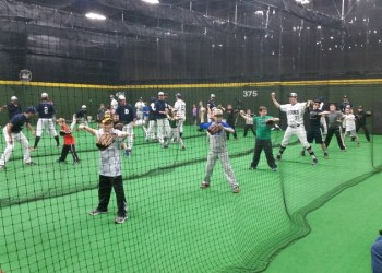 A previous baseball clinic held by the Penn State DuBois baseball team at the former Baseball Bank.  The City of DuBois announced on Monday that the facility will reopen this Thursday under the new name On Deck Sports. (Provided photo)