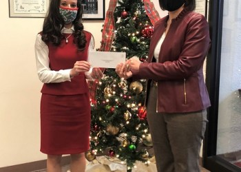 Wendy Benton, DASD superintendent (left), and Anne Young, DASD curriculum director and executive director of the Educational Foundation (right), are pictured accepting the $5,000 EITC donation from Riverview Bank. (Provided photo)