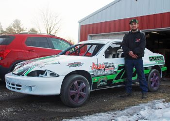 Austin Fedder is taking his small car to a very big stage.