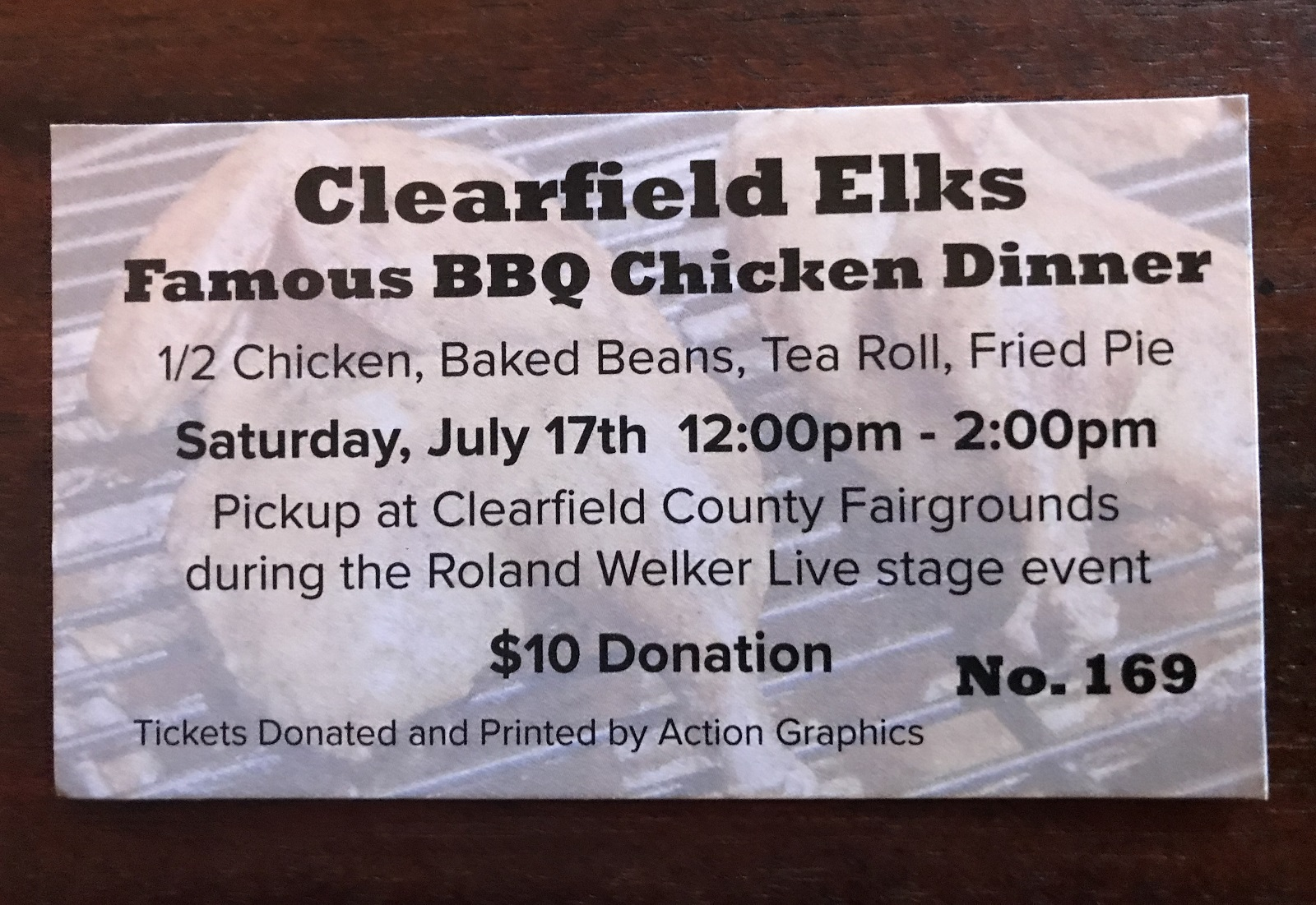 Clearfield Elks to Host Famous BBQ Chicken Dinner