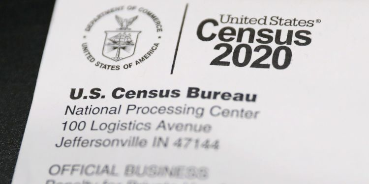 A Census 2020 envelope is pictured in Philadelphia on Thursday, March 12, 2020. As is customary every ten years, U.S. Census questionnaires have been mailed out to the country's households.  TIM TAI / Philadelphia Inquirer
