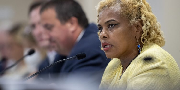Former state Rep. Margo Davidson was charged in July with stealing from taxpayers and misusing campaign funds, helping her pad a legislative salary that's already among the most generous in the country.  ALEJANDRO A. ALVAREZ / Philadelphia Inquirer