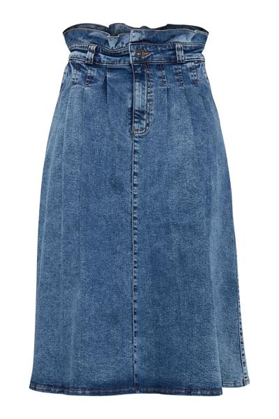Køb Ichi Nederdel Bita Skirt Medium Blue Her!   Ganto