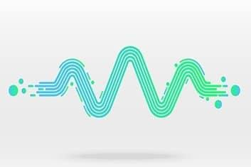 zeigt eine Wellenform