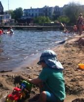 Baden Badeanstalt Sommer