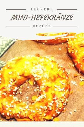 Kleine Hefekränze schmecken nicht nur zu Ostern. Dieser Hefekranz ist leicht zu backen. Mit Hefeteig und HAgelzucker, super für das Osterbuffet.