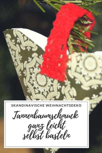 Weihnachtsdeko aus Skandinavien: Dieser skandinavische Weihnachtsbaumschmuck ist schnell selbst gebastelt und leicht nach zu basteln, auch für Kinder. Deko für den Tannenbaum und DIY aus Schweden. #weihnachten #advent # weihnachtsdeko