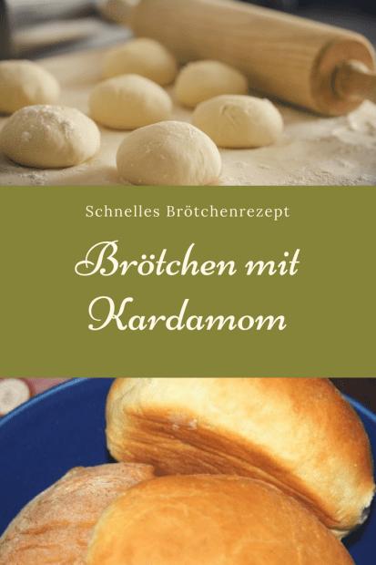 Einfaches Rezept für Brötchen mit Kardamom: Diese Brötchen schmecken nicht nur zu Weihnachten und im Advent und sich ganz schnell zu backen. #rezept #backen #brötchen