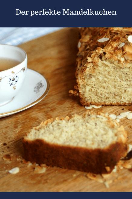 Kuchen mit Mandeln und Kandis -ein perfekter Mandelkuchen mit Kruste, die mit Kandiszucker überbacken und kandiert- schmeckt perfekt zu Tee aber auch zum Kaffee