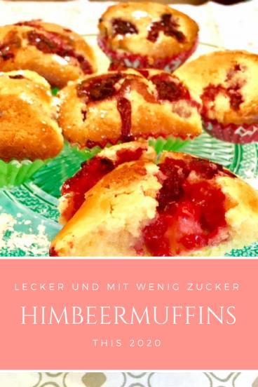 Rezept für schnelle Himbeermuffins, die mit wenig Zucker auskommen: Diese Muffins schmecken nicht nur Kindern. Sie sind leicht und schnell gemacht besser als jeder  Kuchen.