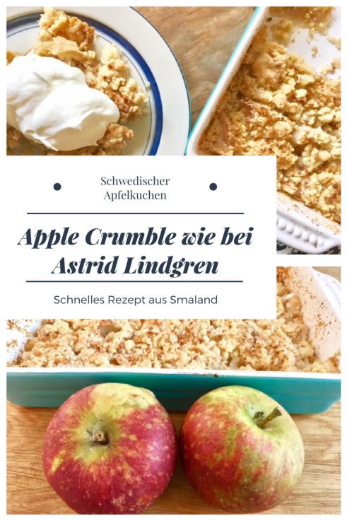 Rezept für einen schwedischen Apple Crumble: Ein Apfelkuchen mit Krümelteig schnell zu backen #backen #apfelkuchen