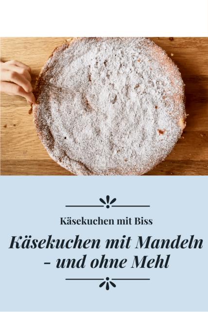Käsekuchen mit Mandeln, backen ohne Mehl: ein Mandelkuchen mit Frischkäse. #backen #rezept #kuchen