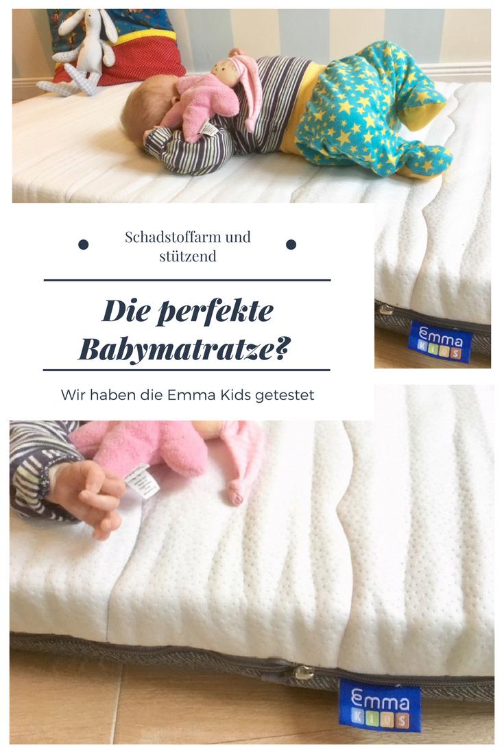 Matratze für Baby und Kleinkind: schadstoffarm und körperstützen. Die Emma Kids im test. #baby #kinderzimmer