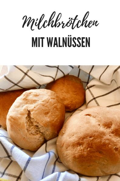Rezept für Milchbrötchen mit Walnüssen -süße schwedische Brötchen, schnell zu backen #backen