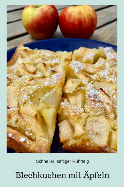 Blechkuchen mit Äpfeln