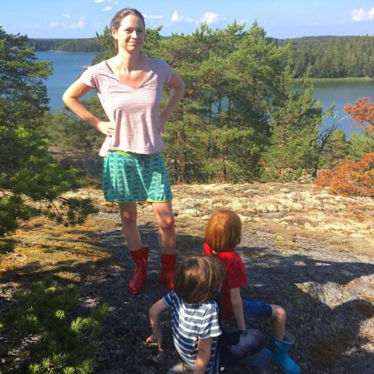 Wandern auf den Schären vor Turku