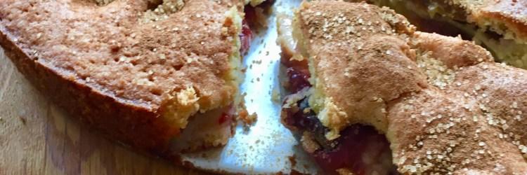 Rezept für schwedischen Pflaumenkuchen mit gemahlenen Mandeln