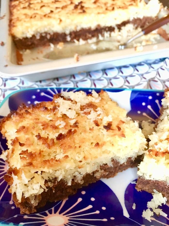 Rezept für Toscakuchen in der Variante mit Schokolade und kokos - schnell zu backen #blechkuchen