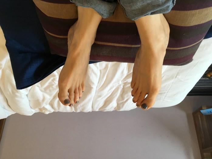 Gepflegte Füße nach benutzen einer Fussmaske von schokl