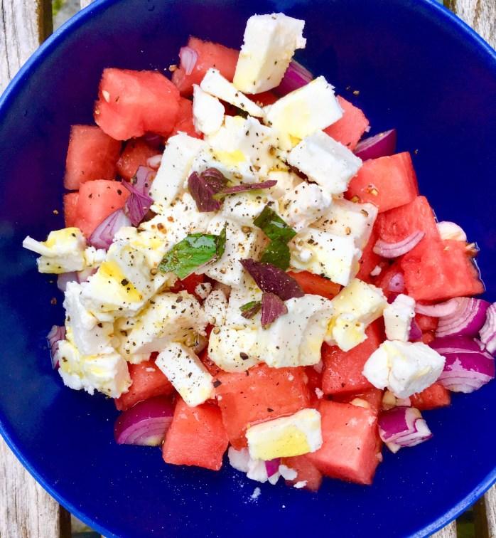 5 leichte Sommersalate schnelle Rezepte - Wassermelone mit fest, bauernsalat, brotsalat, ,
