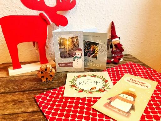 Weihnachtskarten online mit kaartje gestalten