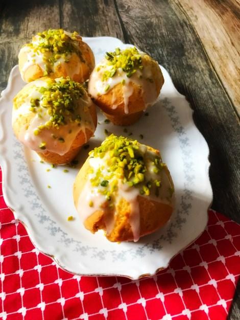 Rezept für Zitronenmuffins mit Pistazien