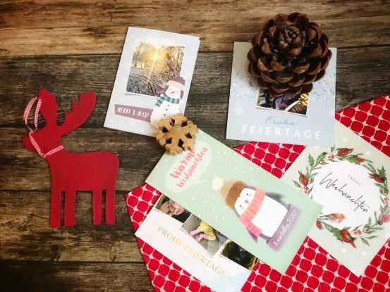 Weihnachtskarten mit kaartje online gestalten