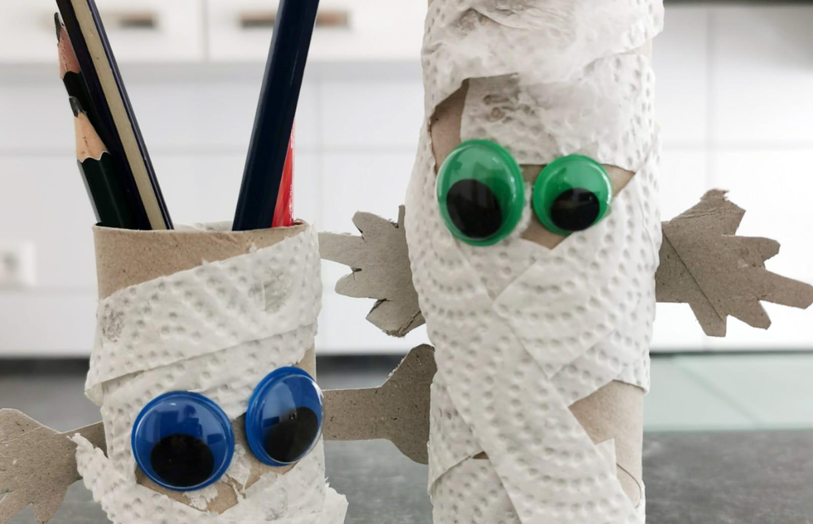 Basteln mit Klopapierrollen 1 Mumien 5 breit