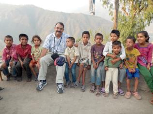 A.M. with Village Kids in Tikka