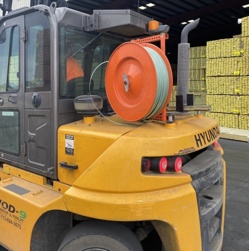 forklift strapping dispenser