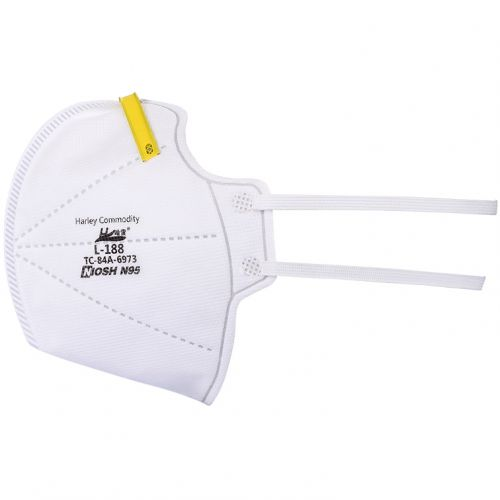 N95 Respirator Mask - Side View
