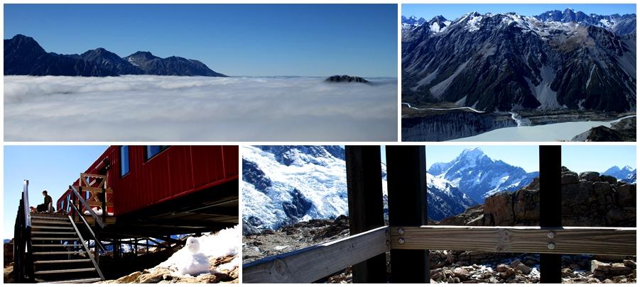 Takie widoki miałam :) Góry w chmurach!