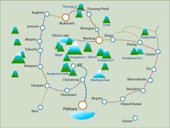 Poglądowa mapa. www.besthikes.com