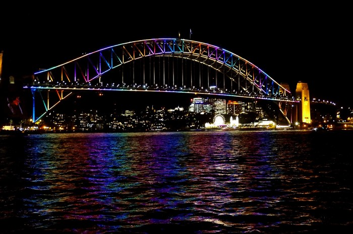 Harbour Bridge during Vivid Sydney Festival