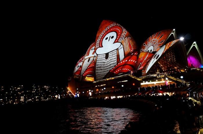 Opera House during Vivid Sydney Festival