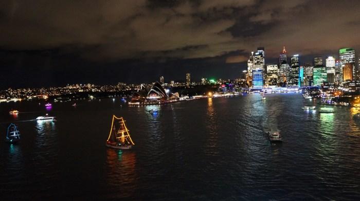 Sydney during Vivid Sydney Festival