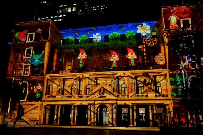 Customs house during Vivid Sydney Festival