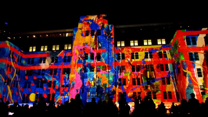 Museum of Contemporary Art during Vivid SydneyFestival