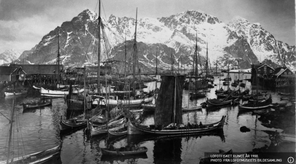 Lofoty w 1900 roku