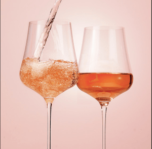Image of Wine Glasses with Pink Wines