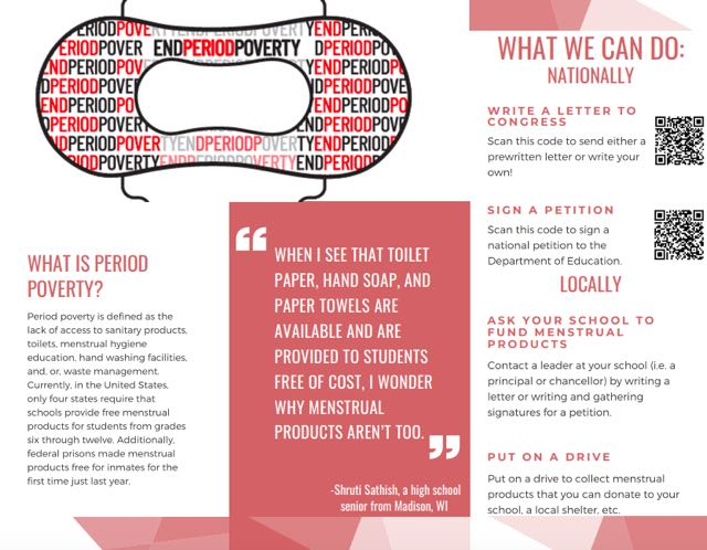 Infographic about period poverty and what you can do to help end it
