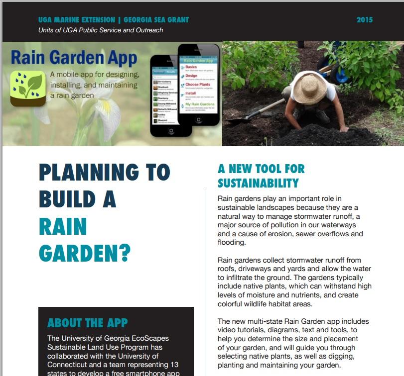 New rain garden App now available!  
