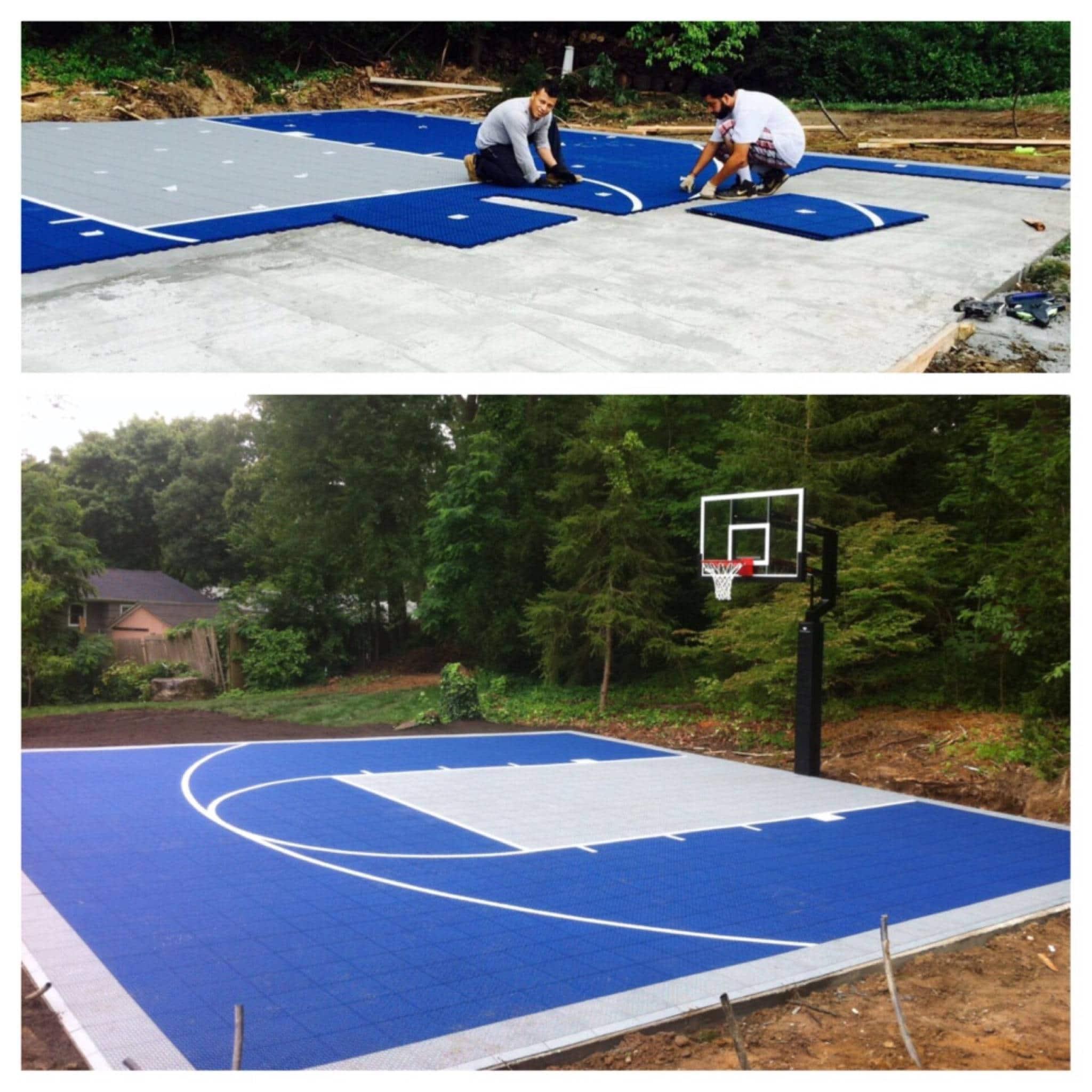 Versa basketball court built in setauket long island by for Built in basketball court