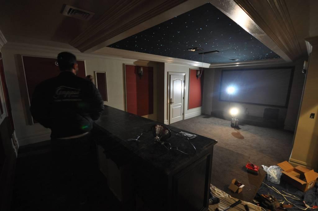 Custom Residential Movie theater Long Island NY- Gappsi